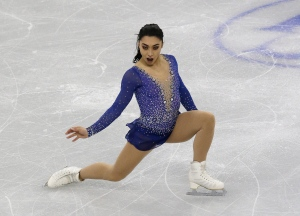 Silver medalist Gabrielle Daleman of Canada competes in the Ladies Free Skating at the ISU Four Continents Figure Skating Championships in Gangneung, South Korea, Saturday, Feb. 18, 2017. (AP / Ahn Young-joon)