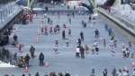 Thousands of minor hockey players take over the Rideau Canal Skateway
