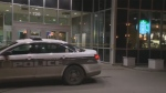 A Winnipeg Police Service cruiser outside the Starbucks inside the Canad Inns hotel attached to Health Sciences Centre following a shooting inside the business on Oct. 30, 2016.