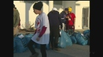 Young people in Windsor's Sikh community help take the chill off winter with a clothing donation drive on Friday, Feb. 17, 2017.