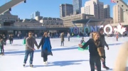 Nathan Phillips Square, skating