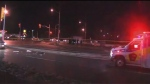 A female pedestrian was struck and killed in Markham on Saturday night.