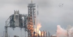 In this image from NASA TV, the SpaceX Falcon rocket launches from the Kennedy Space Center in Florida on Sunday, Feb. 19, 2017. (NASA TV via AP)