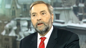 NDP Leader Tom Mulcair speaks to Evan Solomon on CTV's Question Period.
