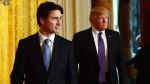 Prime Minister Justin Trudeau and U.S. President Donald Trump arrive to take part in a joint press conference at the White House in Washington, D.C. on Monday, Feb. 13, 2017. THE CANADIAN PRESS/Sean Kilpatrick