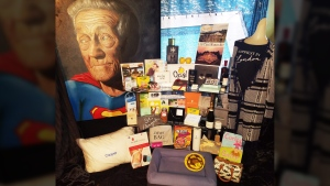 The Distinctive Assets 'Everyone Wins' gift bag for Oscar nominees is shown in this handout photo.