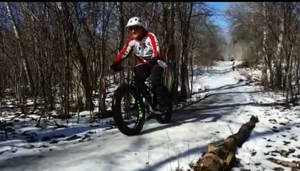 Fatbikers hold a poker run on Sunday, Feb. 19, 2017 to raise money to maintain the trails at Wildwood Conservation Area near St. Marys.