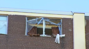 Police are investigating after an explosion took place inside a residential building in Parkdale.