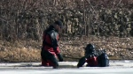 Man found dead in pond after falling through ice