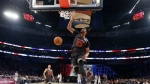 Western Conference forward Anthony Davis of the New Orleans Pelicans slam dunks during the first half of the NBA All-Star basketball game in New Orleans on Sunday, Feb. 19, 2017. (AP Photo/Gerald Herbert, Pool)
