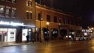 The Winnipeg Police Service says officers were called to the 100 block of Osborne St. at 3:05 a.m. after two people were injured in an incident. (Source: Stephanie Tsicos/CTV News)