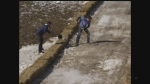 Workers maintain the tubing runs at the World Tubing Championships in St. Thomas on Sunday, Feb. 19, 2017. (CTV London)