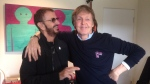 Ringo Starr shared a photo with Paul McCartney on his Twitter account on Feb. 19. (Ringo Starr/Twitter)