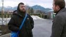 Ryan Laforge, left, speaks with W5 in Surrey, B.C.