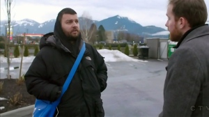 Ryan Laforge, left, speaks with W5 in Surrey, B.C.