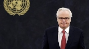 Russian ambassador to the United Nations Vitaly Churkin returns to his seat after speaking at United Nations headquarters. Russian officials said Churkin died suddenly in New York City on Monday, Feb. 20, 2017. (AP / Seth Wenig, File)