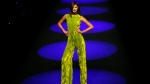 A model displays a 2017-18 Fall/Winter creation by Spanish designer Esther Noriega during the Madrid's Fashion Week in Madrid, Monday, Feb. 20, 2017. (AP Photo / Francisco Seco)