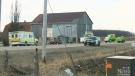 Car, ambulance collision sends 7 to hospital