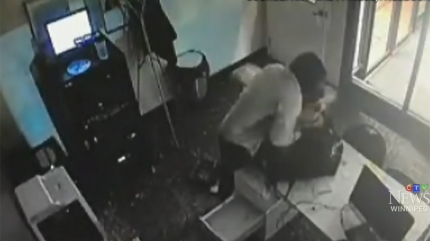 Security footage shows the theft done within two minutes. (Source: Anytime Fitness/Facebook)