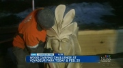 Wood carvers display works of art