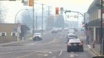 Hazy air is seen in Courtenay, B.C. in this Dec. 4, 2014 file photo.