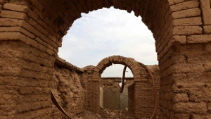 Destruction caused by ISIS at the archaeological site of Nimrud, Iraq is seen in this provided image. © SAFIN HAMED / AFP