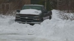 The body of a 66-year-old Cape Breton man was found buried under snow near his truck Sunday.