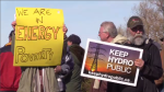 One of many hydro rate protests across Ontario