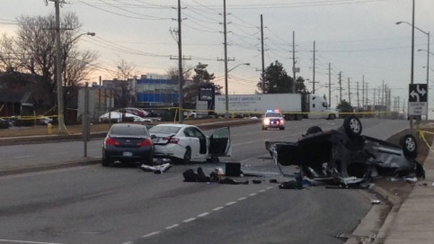 Police are investigating a fatal crash in Vaughan Tuesday morning. (Cam Woolley/ CP24)