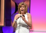 In this May 19, 2015, file photo, Hoda Kotb accepts the award for outstanding host, news/non-fiction for the 'Today' show at the 40th Anniversary Gracies Awards at the Beverly Hilton Hotel in Beverly Hills, Calif. Kotb announced on Feb. 21, 2017, that she adopted a baby girl. (Photo by Chris Pizzello/Invision/AP, File)