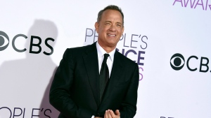 Tom Hanks arrives at the People's Choice Awards at the Microsoft Theater in Los Angeles on Wednesday, Jan. 18, 2017. (Jordan Strauss/Invision/AP)
