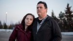 Sean O'Leary stands with his daughter Paige, 16, who has struggled with drug addiction, in the Ottawa suburb of Kanata, Monday, Feb. 20, 2017. An Ottawa father is urging parents of opioid-addicted teens to establish a network to save lives, the focus of a letter he shared on social media that has generated responses from other parts of Canada and the United States. (Justin Tang/THE CANADIAN PRESS)