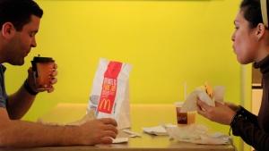 In this Wednesday, Sept. 12, 2012, file photo, Carlos Gonzalez and Elsa Guzman eat breakfast at a McDonald's restaurant, in New York.  (AP Photo / Mark Lenniha, File)