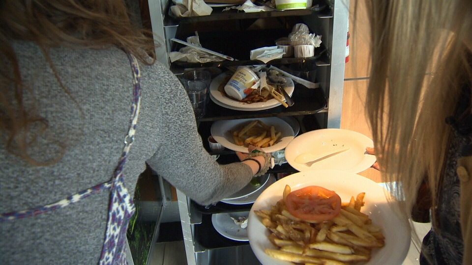 A group of University of Victoria students is eating leftovers that come from complete strangers to raise awareness about how much food Canadians throw out. Feb. 21, 2017 (CTV Vancouver Island)