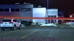 A man was shot outside a restaurant in Terrebonne (CTV Montreal / Cosmo Santamaria)