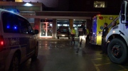 A car smashed the window of a bank (CTV Montreal / Cosmo Santamaria)