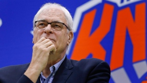New York Knicks president Phil Jackson in Greenburgh, N.Y., on July 8, 2016. (Julie Jacobson / AP)