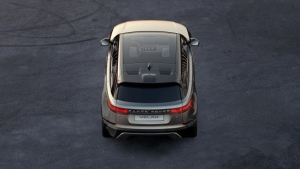 First official teaser image of the Range Rover Velar. (Jaguar Land Rover)