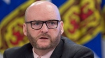 Nova Scotia Auditor General Michael Pickup delivers his update in Halifax on Wednesday, Feb. 22, 2017. (THE CANADIAN PRESS/Andrew Vaughan)