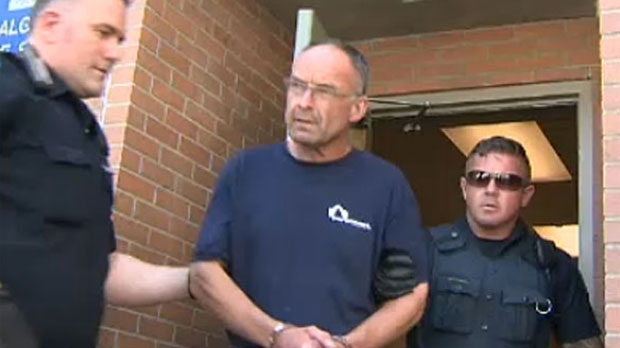 Douglas Garland was taken to hospital after allegedly being beaten by other inmates at the Calgary Remand Centre.
