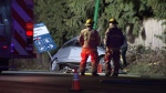One dead after car hits lamp post in Burnaby