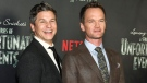 """Neil Patrick Harris, right, and David Burtka, attend the world premiere of Netflix's """"Lemony Snicket's A Series of Unfortunate Events"""" at AMC Loews Lincoln Square on Wednesday, Jan. 11, 2017, in New York. (Andy Kropa/Invision/AP)"""