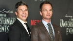 "Neil Patrick Harris, right, and David Burtka, attend the world premiere of Netflix's ""Lemony Snicket's A Series of Unfortunate Events"" at AMC Loews Lincoln Square on Wednesday, Jan. 11, 2017, in New York. (Andy Kropa/Invision/AP)"