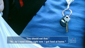 Hidden camera uncovers food bank items for sale
