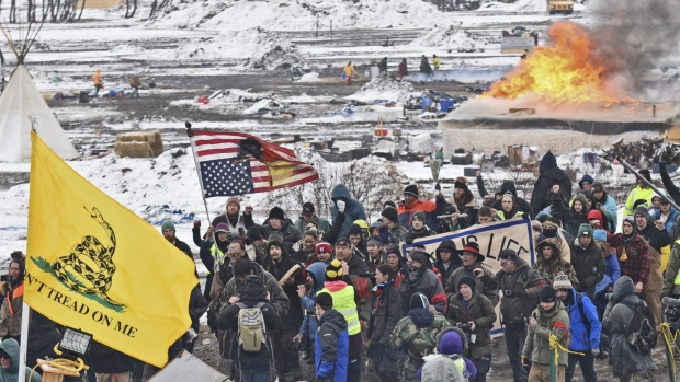 Pipeline protesters in North Dakota