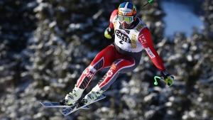 Canada's Manuel Osborne Paradis competes during an alpine ski, men's World Cup downhill training, in Kvitfjell, Norway, on Feb. 23, 2017. (Alessandro Trovati / AP)