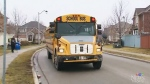 Approximately 40 students take the bus route home from school each day.