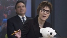 Assembly of First Nations Chief Perry Bellegarde listens to Cindy Blackstock, Executive Director of the First Nations Child and Family Caring Society Caring Society respond to a question during a news conference in Ottawa, Thursday February 23, 2017. (Source: Adrian Wyld/The Canadian Press)