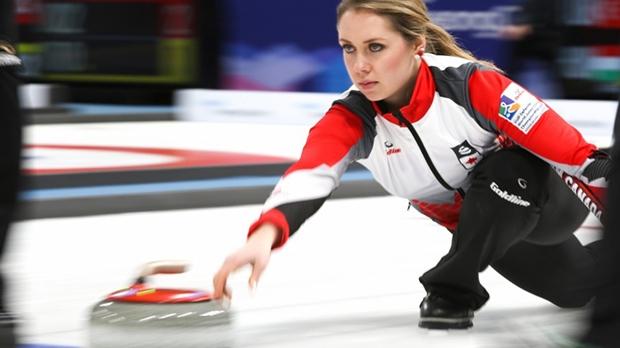 Canadian junior curler Kristen Streifel at the VoIP Defender World Junior Curling Championships 2017 (Source: WCF/ Tom Rowland)