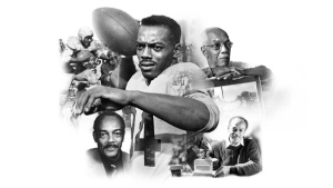 Hamilton Tiger Cats posted this image in tribute to pro football's first black quarterback, Bernie Custis. (source: http://ticats.ca)